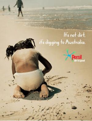 publicité pour la lessive Persil