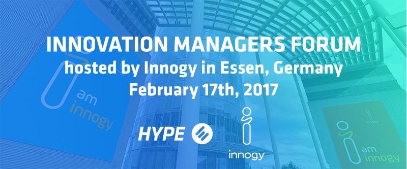 HYPE Regional Innovation Managers Forum with Innogy - Feb 2017, Essen