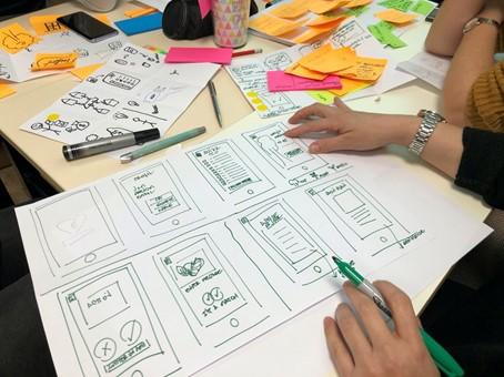 session d'idéation et de brainstorming
