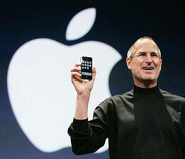 Steve Jobs presenting the Iphone