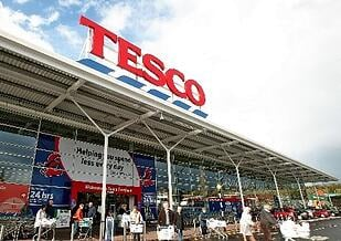 Front of a Tesco store