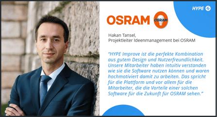 Engagierte Mitarbeiter: Das Ideenmanagement bei OSRAM