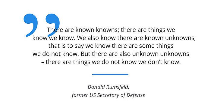 quote from donald rumsfeld about the knowns and unknowns