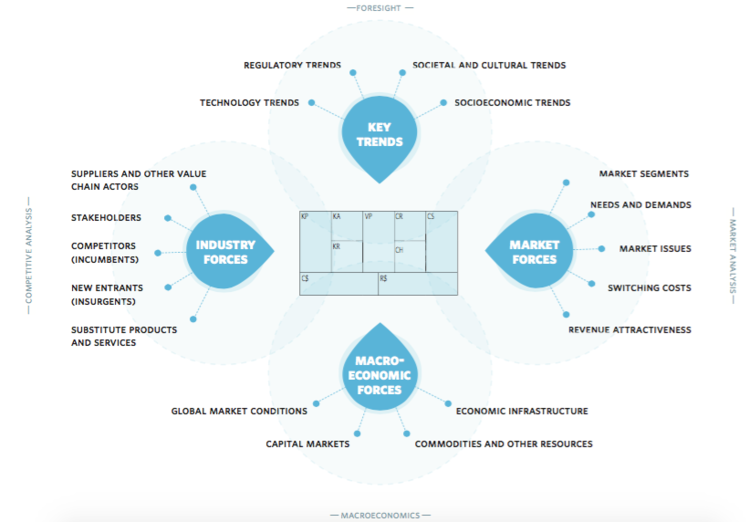 a business model environment schema