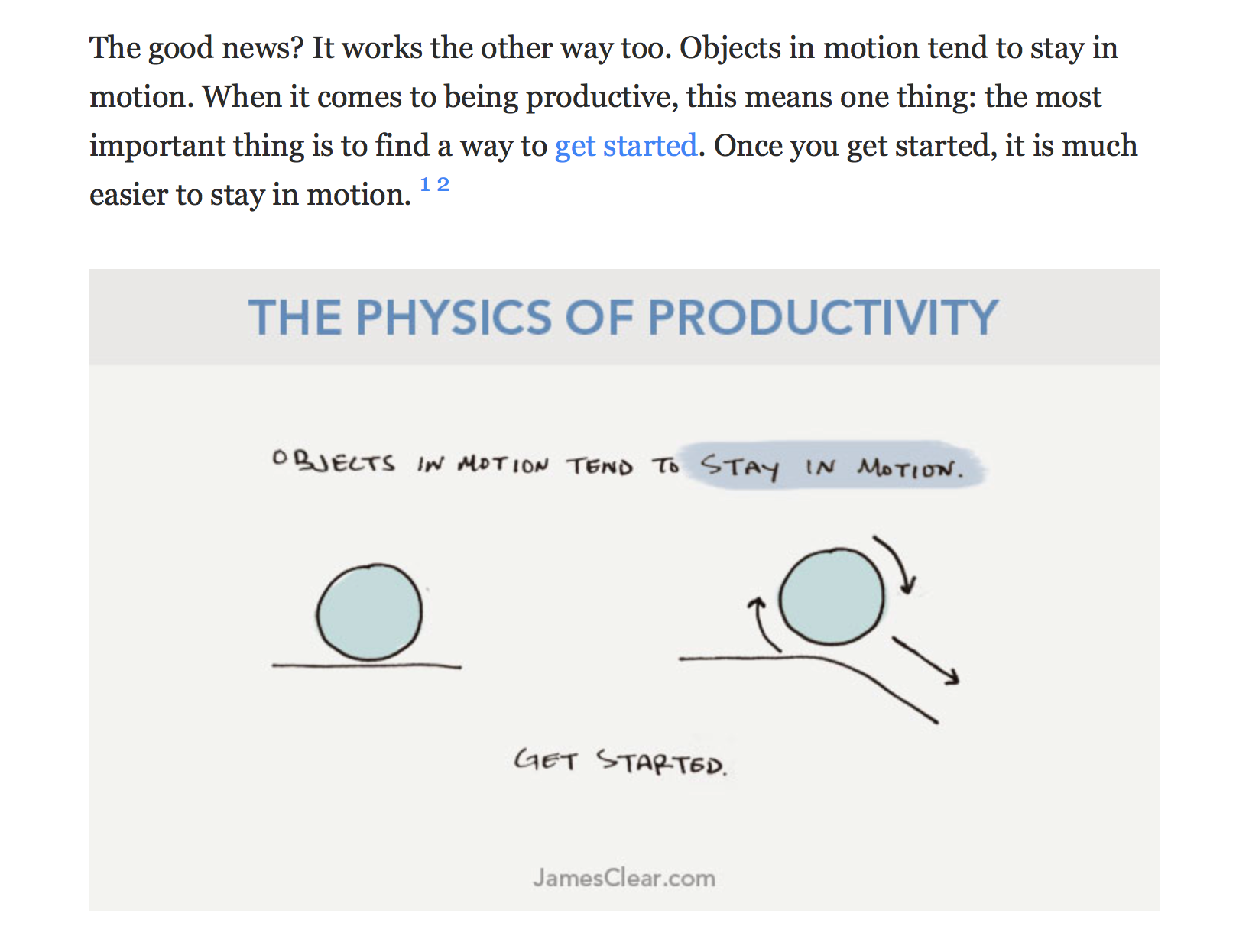 physics of productivity