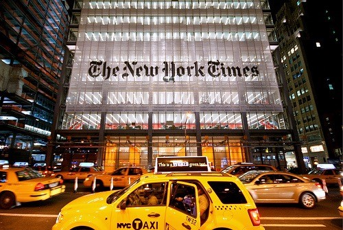 Front building of the New York Times