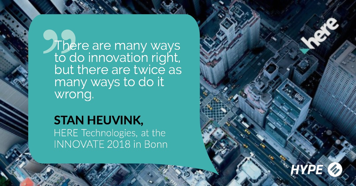 Quote from Stan Heuvink at INNOVATE 2018 Bonn