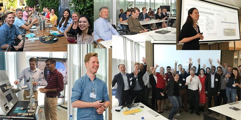 montage of pictures from HYPE Forum at HERE Technologies