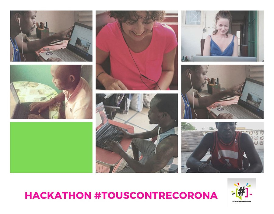 collaboration-hackathon-touscontrecorona-togo