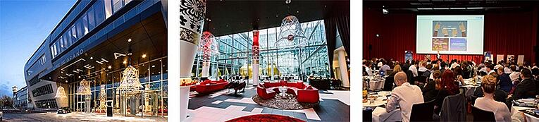 3 pictures of the Kameha Grand Hotel in Bonn