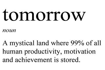 Tomorrow is the day...